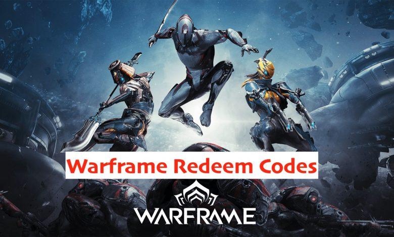 warframe redeem code